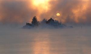 Bugis Photo Cup Circuit Merit Award - Jussi Helimaki (Finland)  Sea Smoke In Midwinter