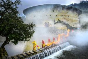 Bugis Photo Cup Circuit Merit Award - Liangjin Liu (China) <br /> Dragon Dance Beside The Tulou River