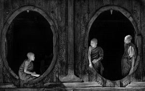 Bugis Photo Cup Circuit Merit Award - Ee Sin Tan (Singapore) <br /> Monks At Oval Windows