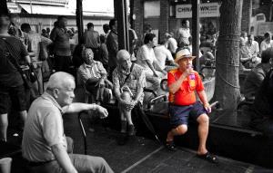 BPC Merit Award - Kim-Hock Tan (Singapore)  Chinatown Old Men Color Mono