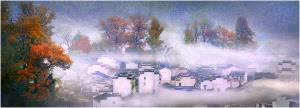 APU Honor Mention e-certificate - Qimin Song (China)  Village In The Fog