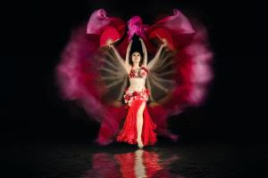 ICPE Honor Mention e-certificate - Myo Win (Singapore)  Red Dancer With Reflection