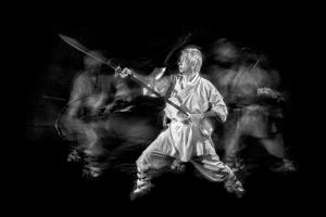 ICPE Honor Mention e-certificate - Khaing Sandar Tin (Singapore)  Kung Fu Master With His Sword 1